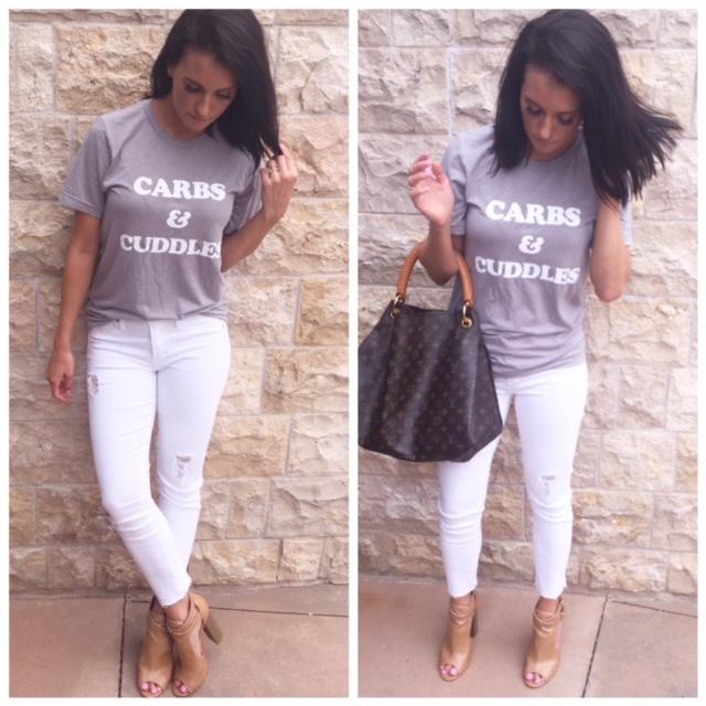 Carbs, Cuddles & White Jeans.