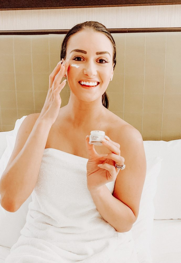 Say goodbye to tired eyes with Olay's NEW Brightening Eye Cream.